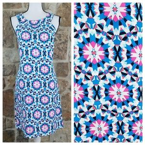 Crown & Ivy 12 Linen Kaleidoscope Sheath Dress